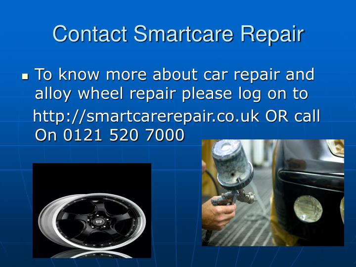 Contact Smartcare Repair