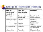 tipologia de interven es efici ncia