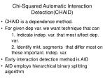 chi squared automatic interaction detection chaid
