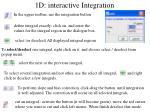 1d interactive integration1