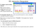 1d interactive integration2