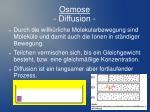 osmose diffusion