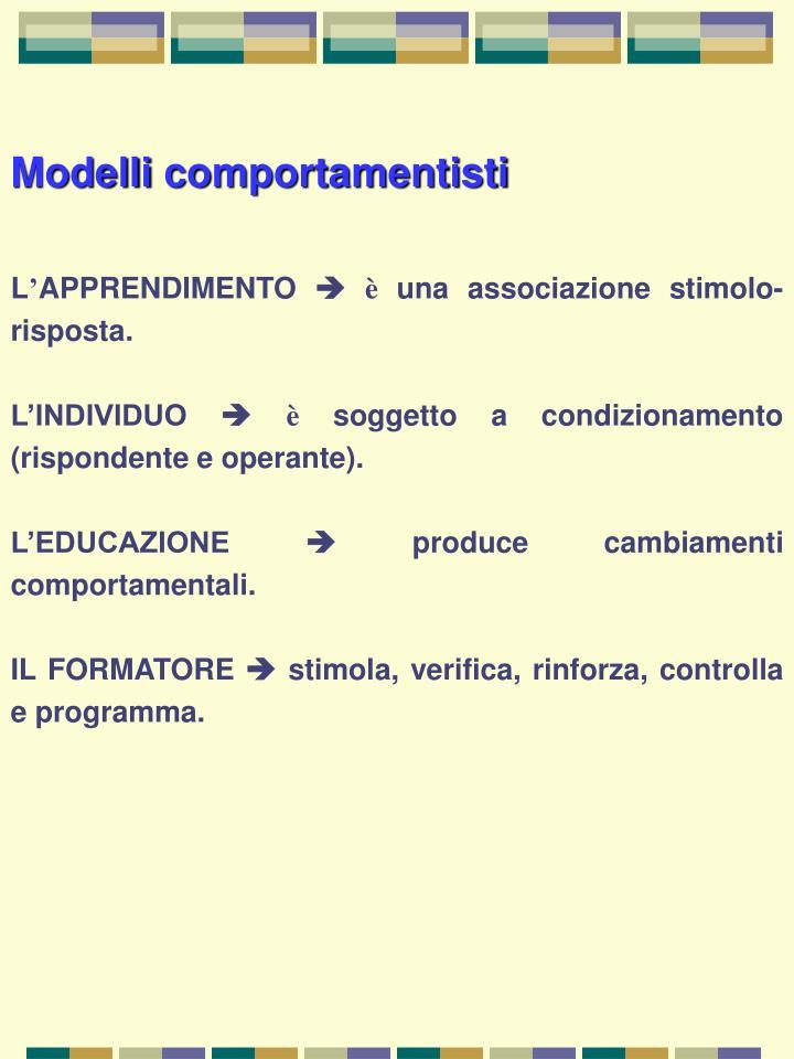 Modelli comportamentisti