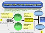 paradigm shift the new research approach