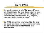 cv y cvrs