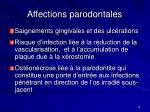 affections parodontales