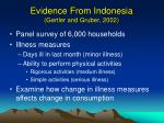 evidence from indonesia gertler and gruber 2002
