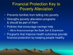 financial protection key to poverty alleviation