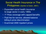 social health insurance in the philippines gertler solon 2001