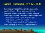 social protection do s don ts