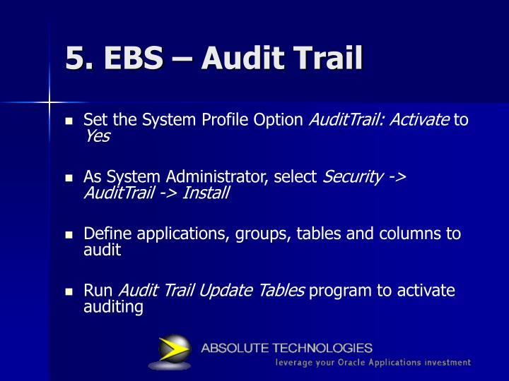 5. EBS – Audit Trail