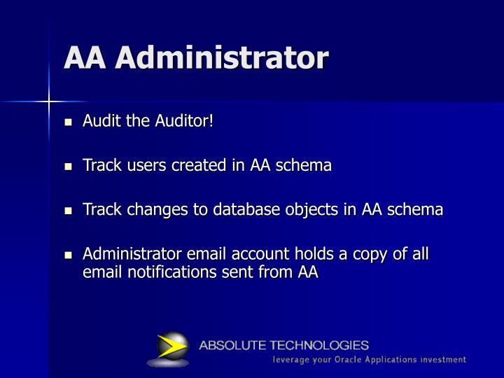 AA Administrator