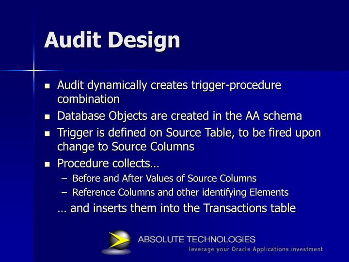 Audit Design