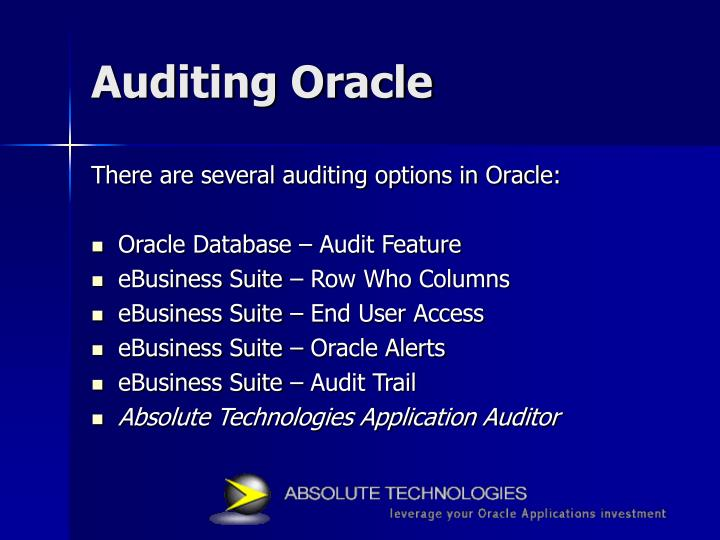Auditing Oracle