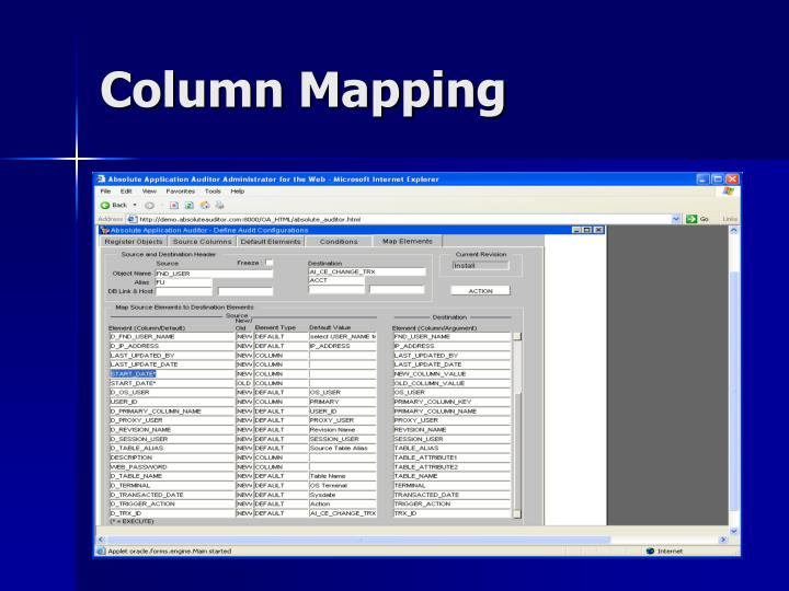 Column Mapping
