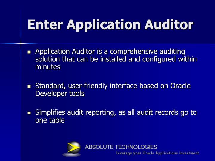 Enter Application Auditor