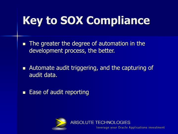 Key to SOX Compliance