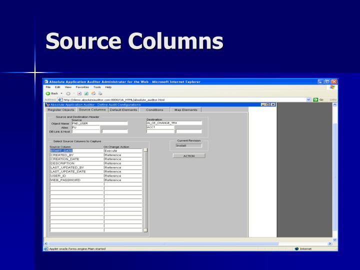 Source Columns