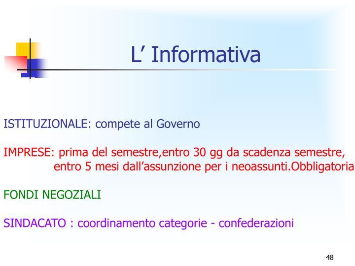 L' Informativa