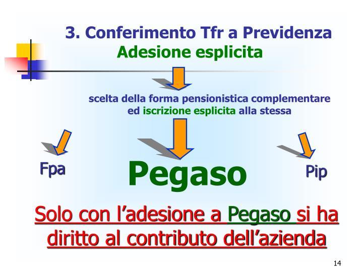 3. Conferimento Tfr a Previdenza