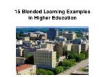 15 blended learning examples in higher education