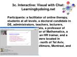 3c interactive visual with chat learningbydoing net