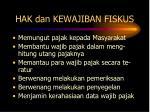 hak dan kewajiban fiskus