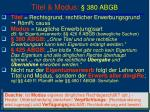 titel modus 380 abgb