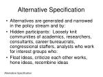 alternative specification1