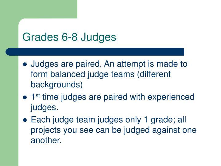 Grades 6-8 Judges