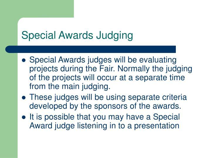 Special Awards Judging