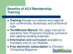 benefits of ac4 membership training