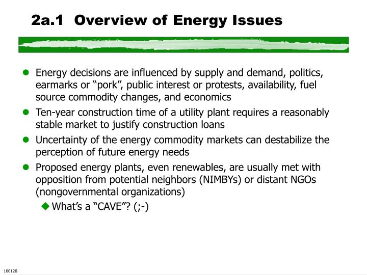 2a.1  Overview of Energy Issues