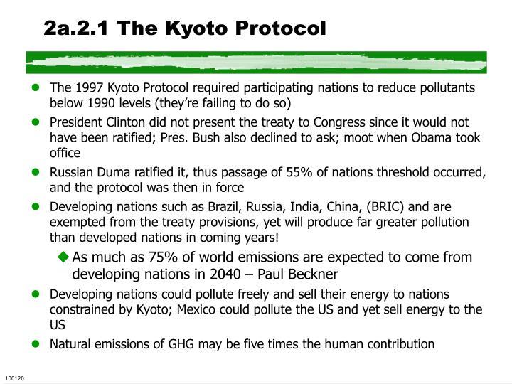 2a.2.1 The Kyoto Protocol