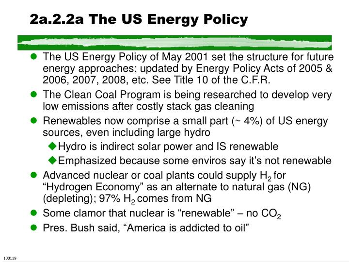 2a.2.2a The US Energy Policy