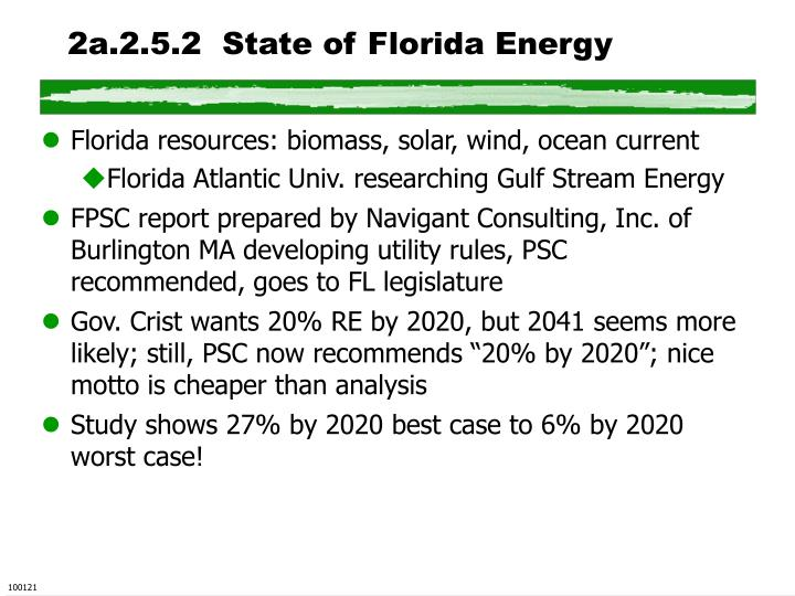 2a.2.5.2  State of Florida Energy