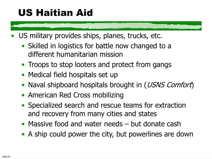 Us haitian aid