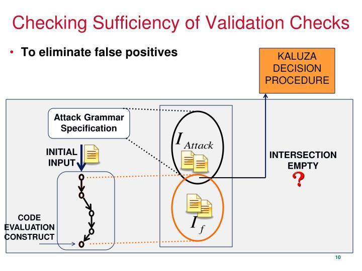 Checking Sufficiency of Validation Checks