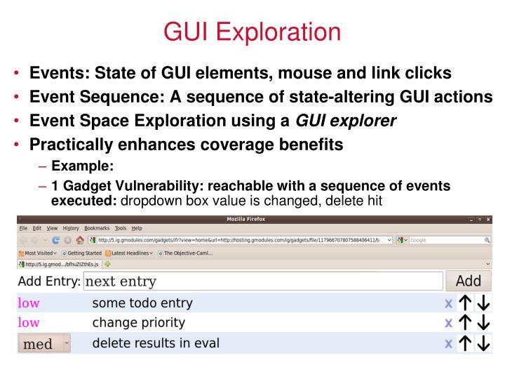 GUI Exploration