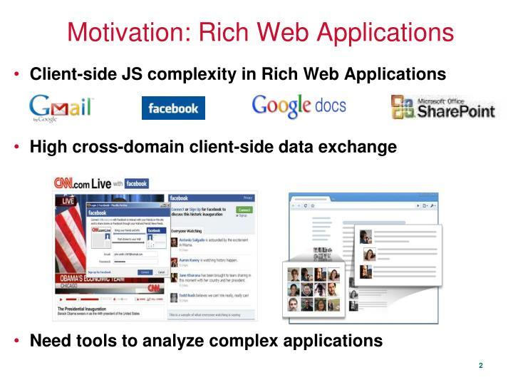 Motivation rich web applications
