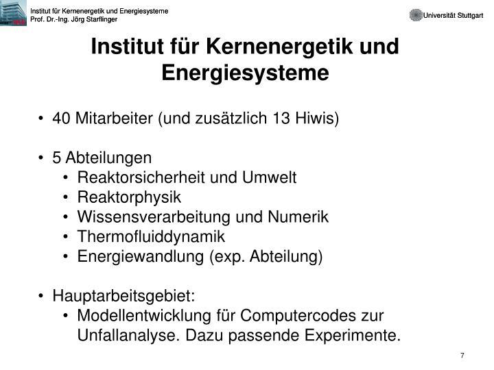 Institut für Kernenergetik und Energiesysteme