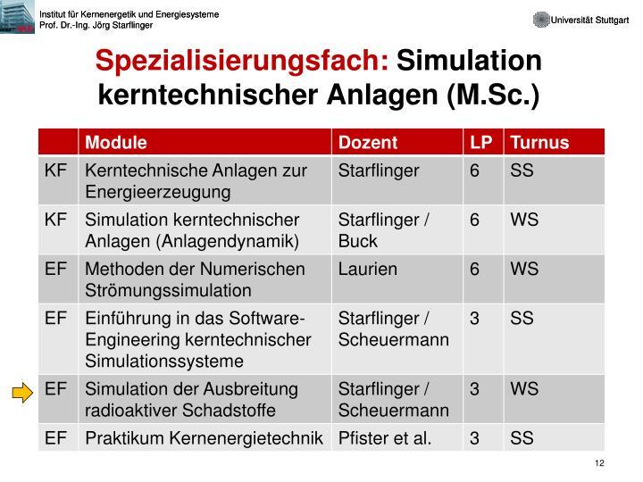 Spezialisierungsfach:
