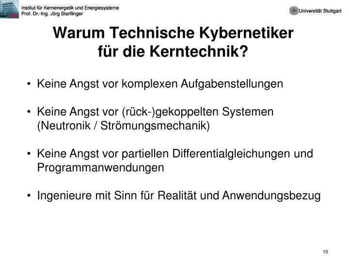 Warum Technische Kybernetiker