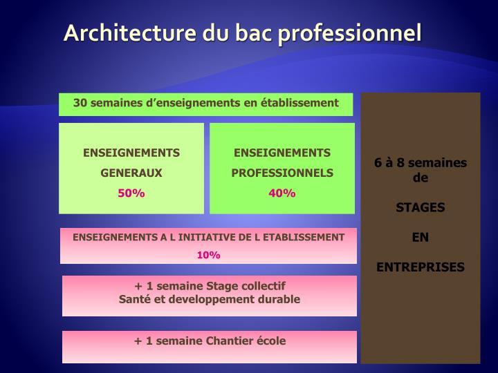 Architecture du bac professionnel