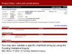 project edits valid edit combinations