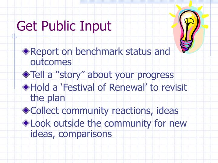 Get Public Input
