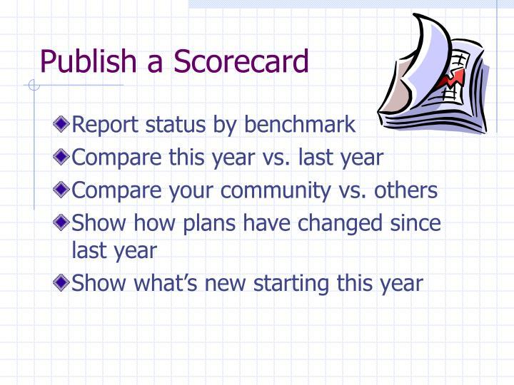Publish a Scorecard
