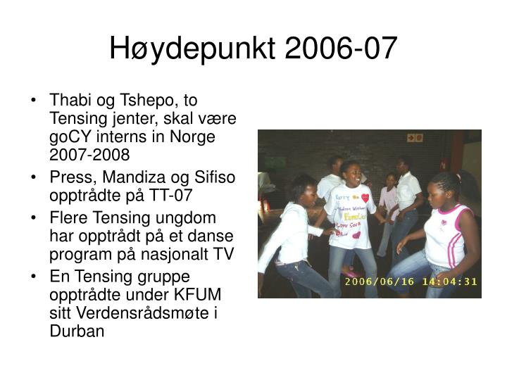 Høydepunkt 2006-07