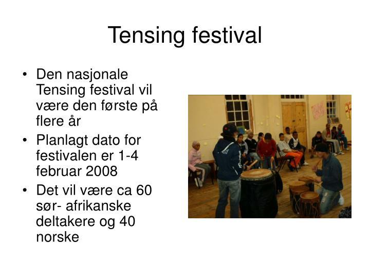 Tensing festival