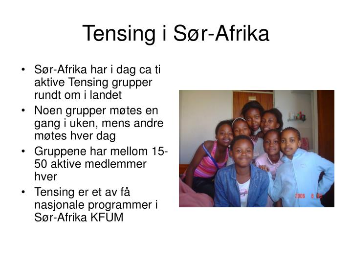 Tensing i s r afrika